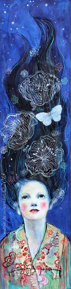 Star Gazing- Original mixed media painting by Maria Pace-Wynters