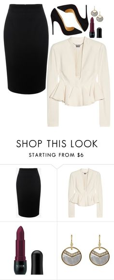 """""""Jessica Pearson Inspired Sets"""" by daniellakresovic ❤ liked on Polyvore featuring Alexander McQueen, Nicka K, Astoria and Christian Louboutin"""