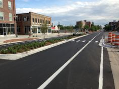 Washington Ave in Lansing, MI. Photo: League of Michigan Bicyclists