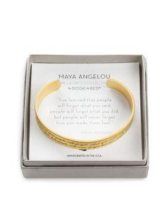 "Dogeared Maya Angelou Legacy Collection ""I've Learned..."" Bracelet"