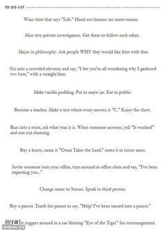 hahahaha i need to do all of these!