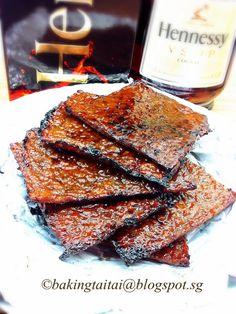 Baking Taitai: Homemade Cognac Bak Kwa - Chinese Pork Jerky (using Brandt Oven FP1067XS) 自制白兰地肉干 (中英食谱教程)