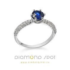 Prsten od belog zlata sa dijamantima i centralnim rubinom, kamenom ljubavi. Sapphire, Engagement Rings, Jewelry, Diamond, Enagement Rings, Wedding Rings, Jewlery, Jewerly, Schmuck