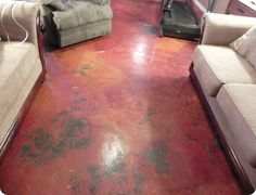 Paint Your Cement Floors Porch Flooring Living