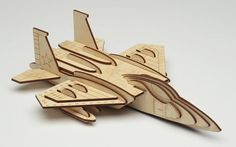 Laser Cut Puzzle Model - F15 Strike Eagle