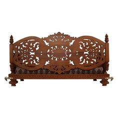 India Traditional Carving Wooden Seater Indoor - 120414_2993 - Seater Temple Design For Home, Wooden Swings, Wood Carving, Handicraft, Artisan, Indoor, House Design, Traditional, Image