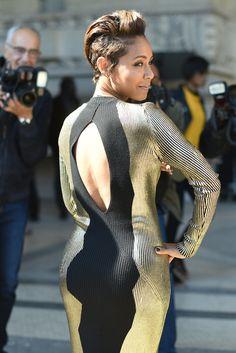 #JadaPinkettSmith   Turns Heads With Her #ParisFashionWeek Appearance ..