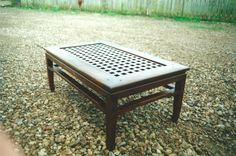 Closer look at the chinese inspired coffee table. This is without the glass that fits in the top.