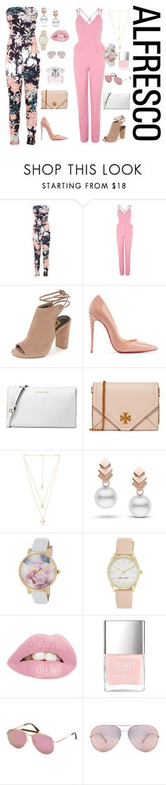 """""""Girls Night Out"""" by tashnut on Polyvore featuring Miss Selfridge, Glamorous, Christian Louboutin, Michael Kors, Tory Burch, Natalie B, Escalier, Ted Baker, Nine West and Tom Ford"""