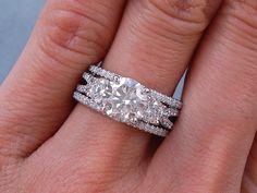 Round Very Good White Gold Diamond Engagement Rings Matching Wedding Rings, Wedding Band Sets, Engagement Wedding Ring Sets, Wedding Matches, Diamond Wedding Rings, Diamond Engagement Rings, Bridesmaid Jewelry Sets, Wedding Jewelry, Bridal Ring Sets