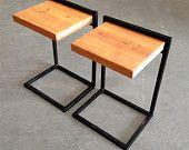 Custom  Side Table with Reclaimed Wood. $175.00, via Etsy.