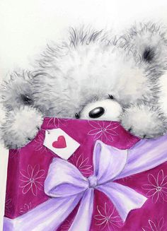 Teddy Bear Images, Teddy Bear Pictures, Purple Wallpaper Iphone, Bear Wallpaper, Tatty Teddy, Beautiful Flowers Pictures, Cute Pictures, Hugs And Kisses Quotes, Happy Birthday Art