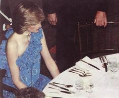 November 9, 1982:  Princess Diana at a Birthright Fashion Show Fundraiser at The Guildhall, London.