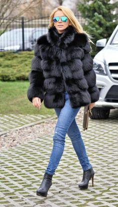 fox furs - saga fox fur jacket made by lafuria