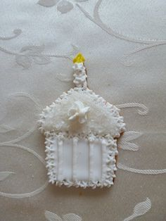 "3"" cupcake sugar cookie in White"