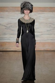 LFW Temperley FW12 Love the neckline and light use of the overused paneling.