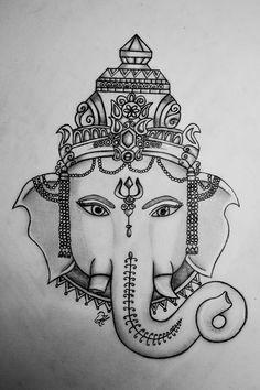 Ganesha getekend!!!