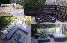 Easy pallet outdoor furniture diy pallet garden furniture images on favim diy outdoor pallet furniture designs diy pallet outdoor bar and stools the diy pallet Pallet Patio Furniture, Outdoor Furniture Sets, Pallet Couch, Furniture Ideas, Wicker Furniture, Crate Furniture, Painted Furniture, Furniture Layout, Balcony Furniture