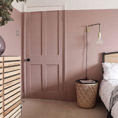 Dusty Pink Bedroom, Pink Bedroom Walls, Pink Bedroom Decor, Pink Bedrooms, Pink Room, Pink Walls, Pink Bedroom Design, Bedroom Paint Colors, Design Room