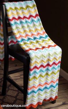 Crochet wave ripple blanket pattern