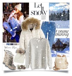Snow Bunny Style by annabu on Polyvore featuring Chicwish, J.Crew, River Island, Carlos by Carlos Santana, Inverni, Winter, winterfashion, winteroutfit, snowbunny and winteressentials