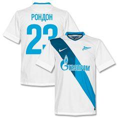 Nike Zenit St Petersburg Away Rondon Shirt 2014 2015 Zenit St Petersburg Away Rondon Shirt 2014 2015 (Cyrillic Fan Style Printing) http://www.comparestoreprices.co.uk/football-shirts/nike-zenit-st-petersburg-away-rondon-shirt-2014-2015.asp