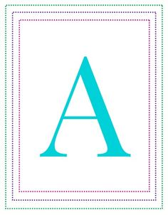 Printable Letter A - I love these ABC printables (all are here A through Z!) for teaching children their ABCs. Flash cards are just one way to teach your toddlers and preschoolers the letter of the alphabet.