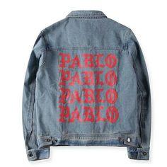 kanye west the life of pablo jeans jacket坎爺TLOP牛仔夾克