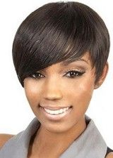 Vogue Short Straight Human Hair Bob Lace Front Wig