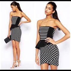 Nwt Asos Striped Dress