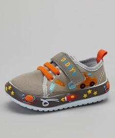Another great find on #zulily! Gray Space Sneaker #zulilyfinds