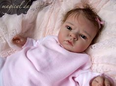 Newborn reborn baby doll SABRINA by Reva Schick
