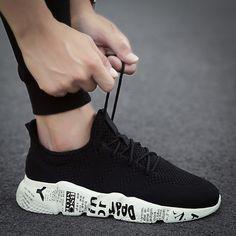 Baideng Plus Size Running Shoes for Men Breathable Outdoor Sports Shoes Black zapatillas deportivas hombre Cheap Men's Sneakers Sneakers Street Style, Casual Sneakers, Sneakers Fashion, Fashion Shoes, Black Shoes, Men's Shoes, Male Shoes, Shoes Sneakers, Shoes Men