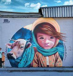Mural in Stockholm by YASH #streetart