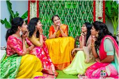 We love this bride's squad of friends who all look joyful for the bride on her big day! Thumbs up for sticking to traditional mundu saree for bridesmaid outfit. This distinctive group of bridesmaids look nothing less than the required su. Funny Wedding Poses, Indian Wedding Poses, Indian Bridal Photos, Indian Wedding Couple Photography, Bride Photography, Marriage Poses, Bridesmaid Poses, Bride Poses, Bridal Photoshoot