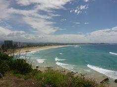 The view of Kirra Beach from Kirra Lookout