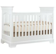 Find this crib in blue and make this the perfect addition to your nursery! White also makes a great color to go with any theme!