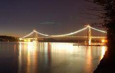Tacoma Narrows Bridge at night, WA