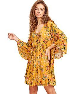 Milumia Women's Floral Print Front Cross Lace Up Deep V-n... https://www.amazon.com/dp/B072WR169C/ref=cm_sw_r_pi_dp_x_Cd3Xzb5GG7R89