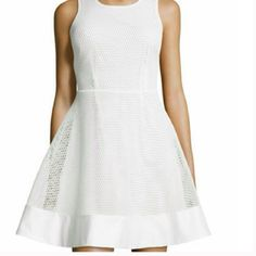 white mesh dress net New with tags size small. Romeo & Juliet Couture Dresses
