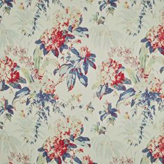 Washington Floral - Bunting - American Mid-Century Florals - Fabric - Products - Ralph Lauren Home Fabric Bunting, Drapery Fabric, Linen Fabric, Ralph Lauren Fabric, Washington, Living Room Pillows, Fabric Wallpaper, Fabric Samples, Floral Fabric