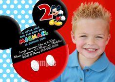 HUGE+SELECTION+Mickey+Mouse+Invitation++Red+by+MyCelebrationShoppe,+$10.00