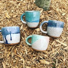 Unique pottery pieces from a German girl in the US. Glazing Techniques, Pottery Mugs, Pottery Ideas, German Girls, I Got Married, Instagram Shop, Hand Lettering, Something To Do, Etsy Seller