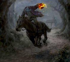 The Headless Horseman of Sleepy Hallow, NY.