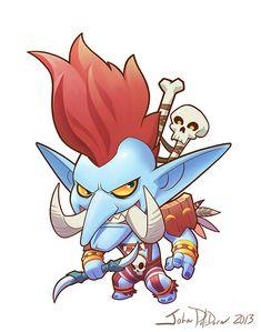 Blizzard Cute But Deadly Character Designs, John Polidora World Of Warcraft, Warcraft Art, Game Character Design, Character Art, Night Elf, Heroes Of The Storm, Telegram Stickers, Wow Art, Starcraft