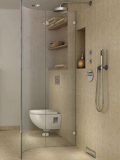 Bodengleiche Duschen machen das Gäste-Bad ein stück weit barrierefrei und damit bequem
