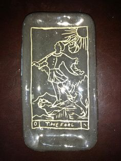 The Fool Tarot Card Ceramic Tray 8 x 4 inches by SatanicCeramics