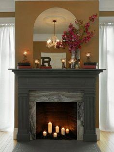 19 best fireplace candles images fireplace set candles in rh pinterest com  fireplace build a fire
