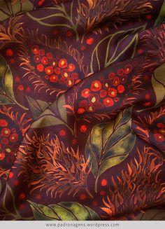 Urucum fruits | estampa vegetal | Wagner Campelo