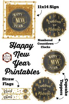 Free Happy New Year Printable Countdown to New Year 2020 | Mandy's Party Printables